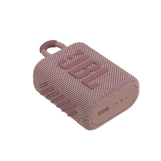 JBL GO 3 - Pink - Portable Waterproof Speaker - Detailshot 3