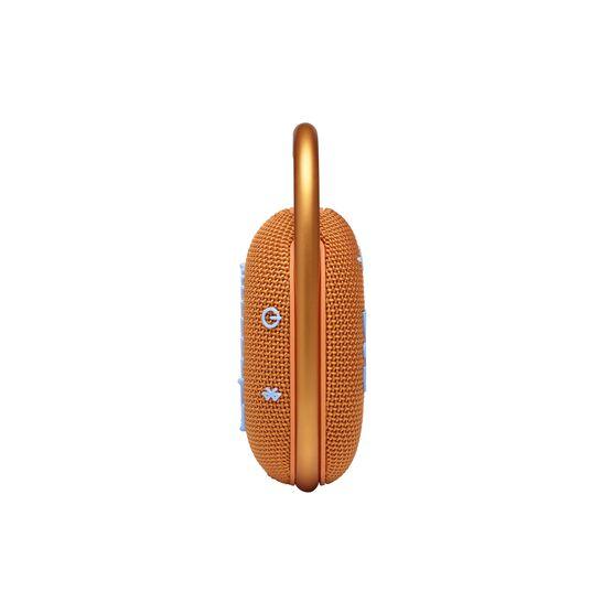 JBL CLIP 4 - Orange - Ultra-portable Waterproof Speaker - Left