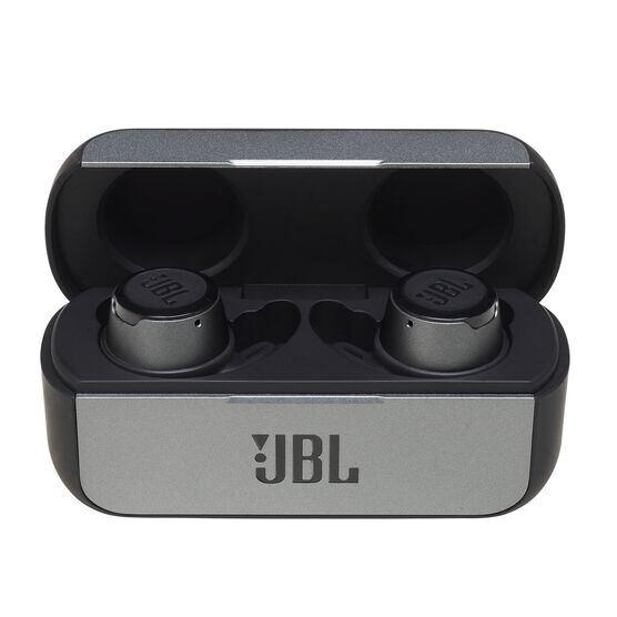 JBL REFLECT FLOW - Black - True wireless sport headphones. - Hero