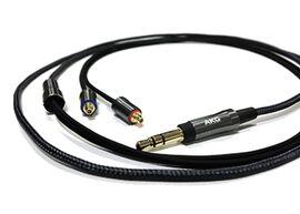 3.5mm 3 pole plug stereo mini-MMCX(L/R)Earphone cable CN120-3.5e