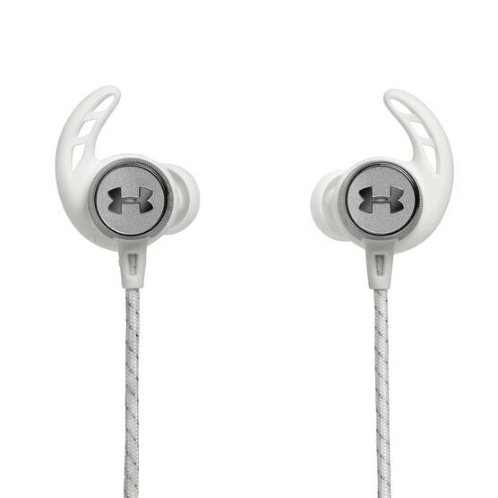 UA Sport Wireless REACT - White - Secure-fitting wireless sport earphones with JBL technology and sound - Back