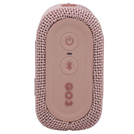 JBL Go 3 - Pink - Portable Waterproof Speaker - Right