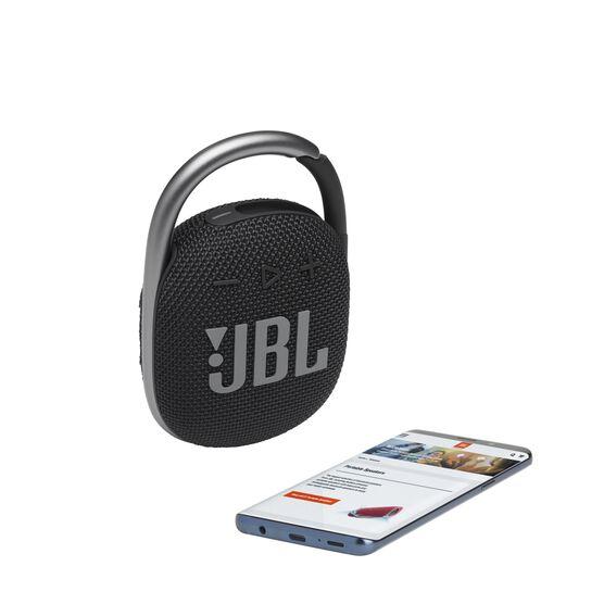 JBL CLIP 4 - Black - Ultra-portable Waterproof Speaker - Detailshot 1