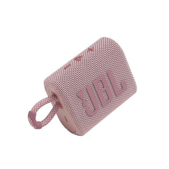 JBL GO 3 - Pink - Portable Waterproof Speaker - Detailshot 1