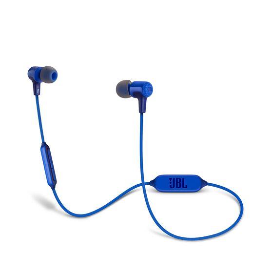 E25BT - Blue - Wireless in-ear headphones - Hero