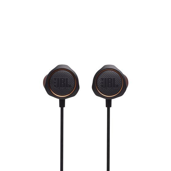 JBL Quantum 50 - Black - Wired in-ear gaming headset with volume slider and mic mute - Front