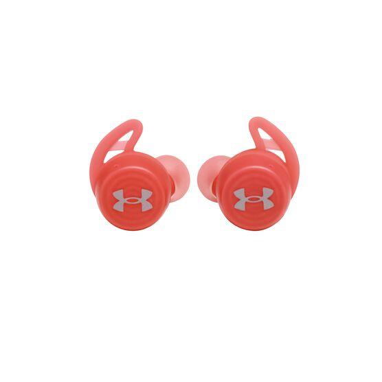 UA True Wireless Streak - Red - Ultra-compact In-Ear Sport Headphones - Front