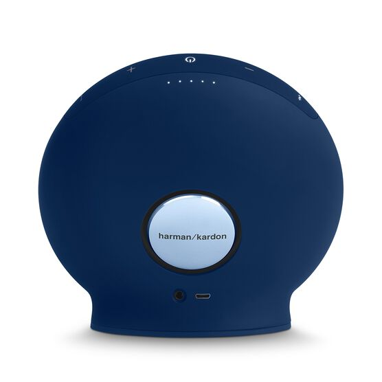 Onyx Mini - Blue - Portable Bluetooth Speaker - Back
