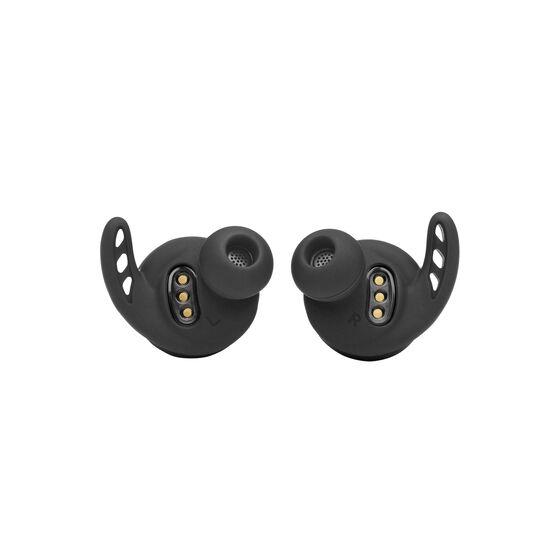 UA Project Rock True Wireless X - Engineered by JBL - Black - Waterproof true wireless sport earbuds - Detailshot 1