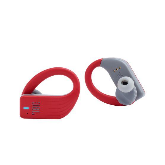 JBL Endurance PEAK - Red - Waterproof True Wireless In-Ear Sport Headphones - Detailshot 1