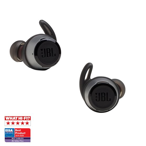 JBL REFLECT FLOW - Black - True wireless sport headphones. - Detailshot 3