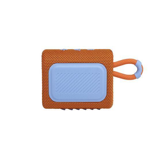 JBL GO 3 - Orange - Portable Waterproof Speaker - Back