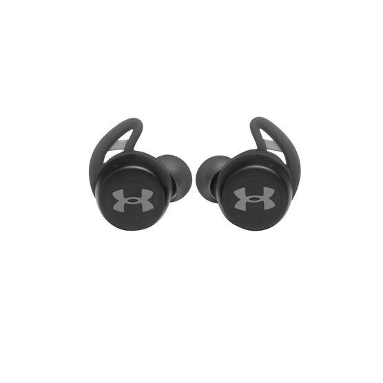 UA True Wireless Streak - Black - Ultra-compact In-Ear Sport Headphones - Front