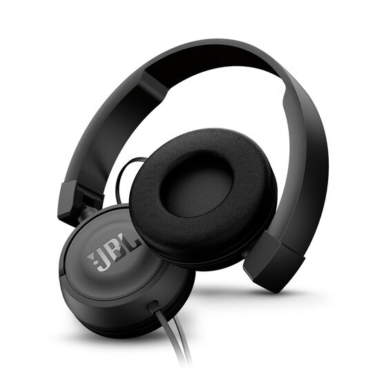 JBL T450 - Black - On-ear headphones - Detailshot 1