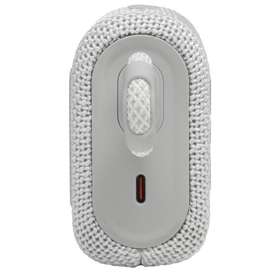 JBL GO 3 - White - Portable Waterproof Speaker - Left