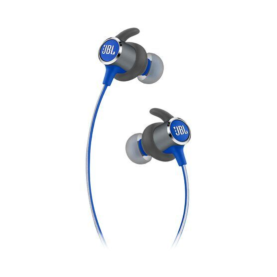 JBL REFLECT MINI 2 - Blue - Lightweight Wireless Sport Headphones - Detailshot 2