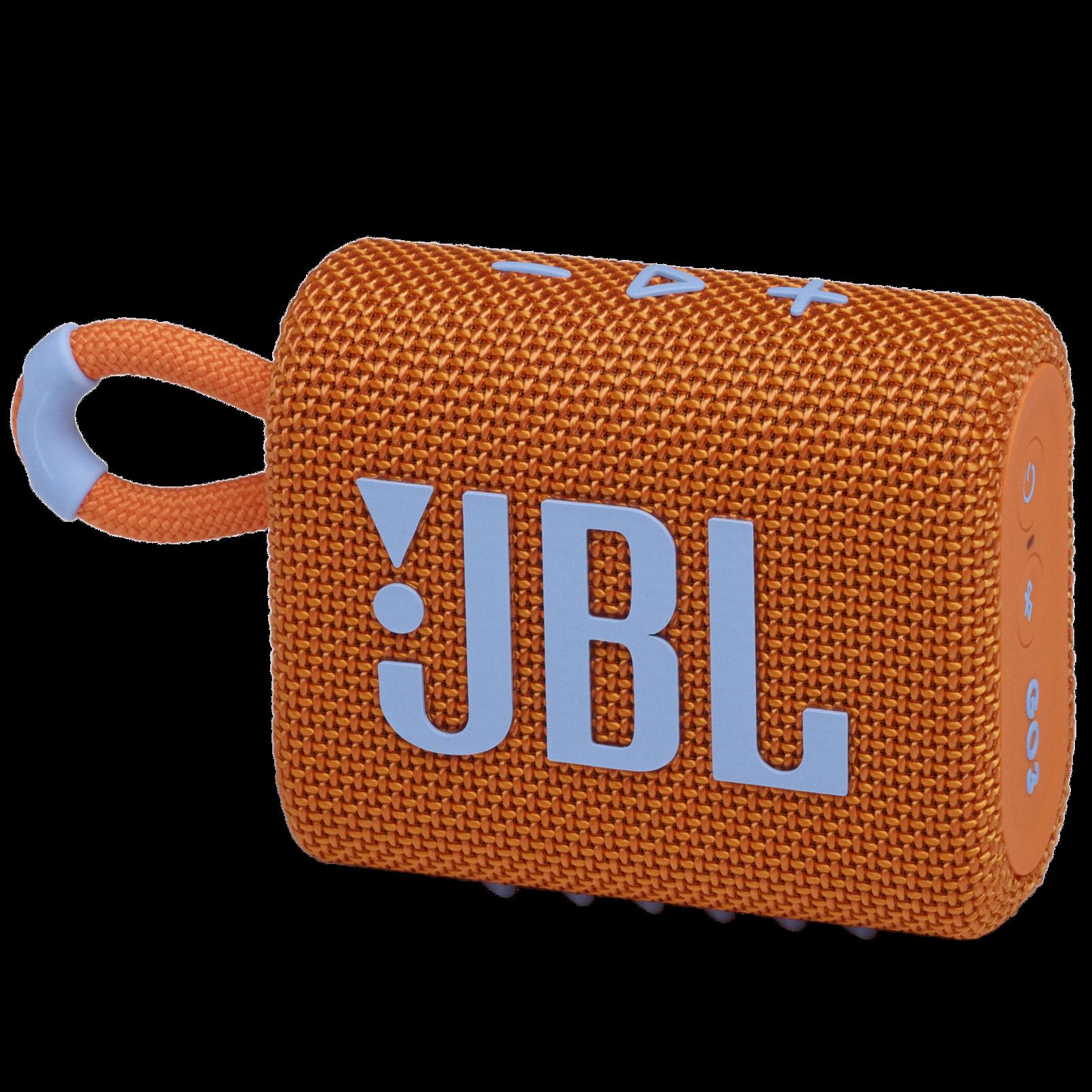 JBL GO 3 - Orange - Portable Waterproof Speaker - Hero