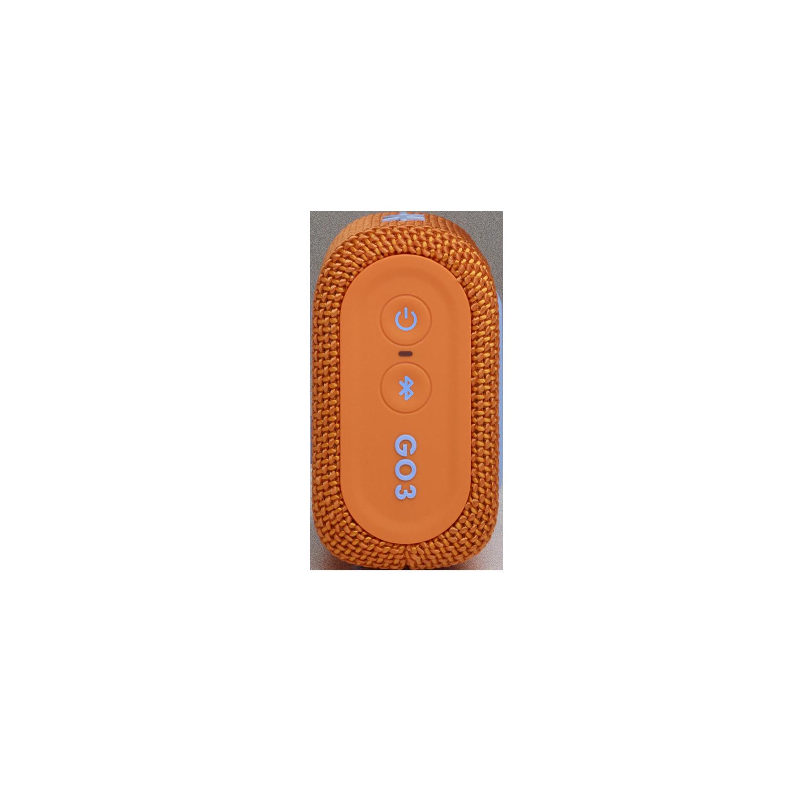 JBL GO 3 - Orange - Portable Waterproof Speaker - Right