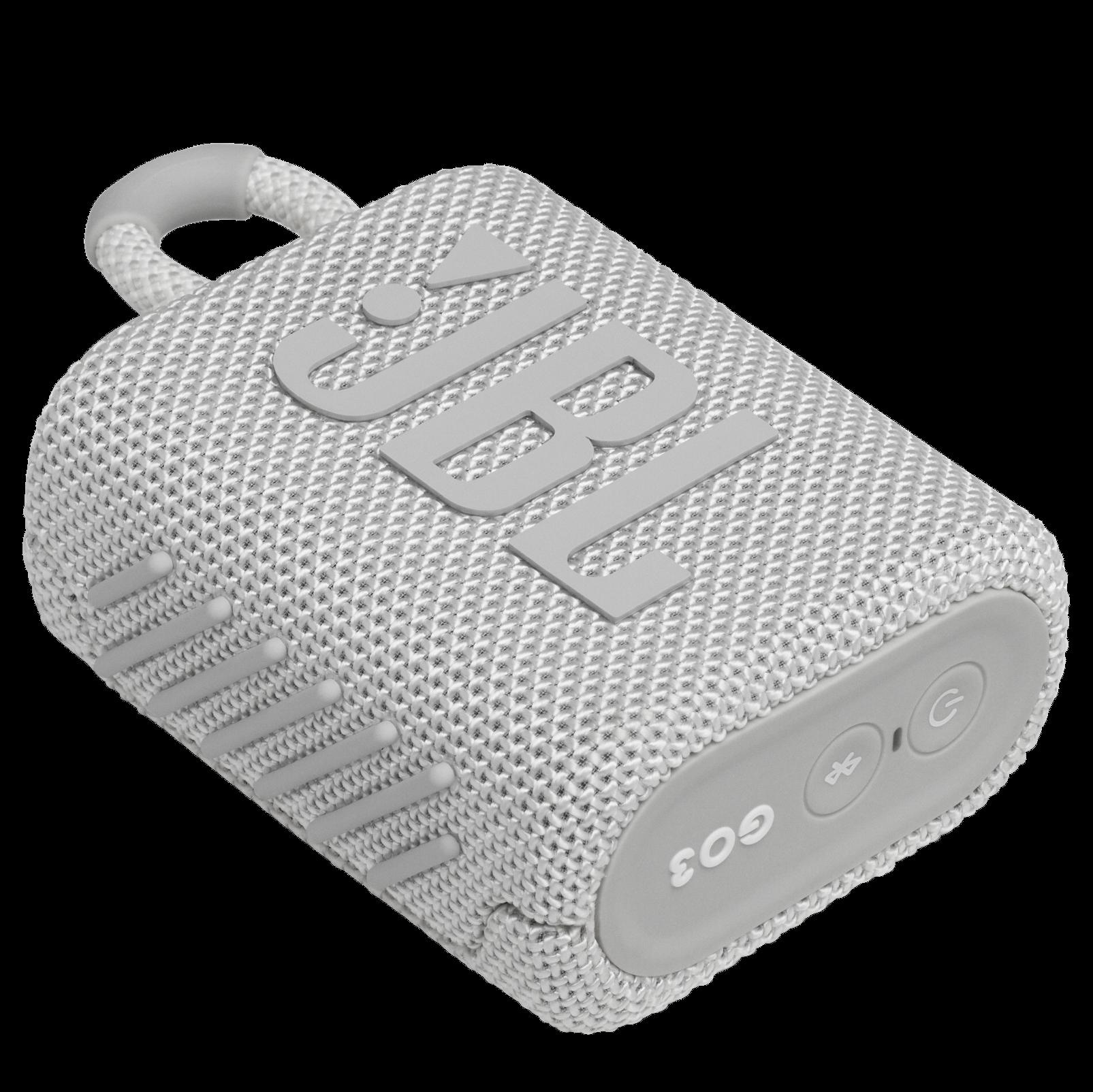 JBL Go 3 - White - Portable Waterproof Speaker - Detailshot 3