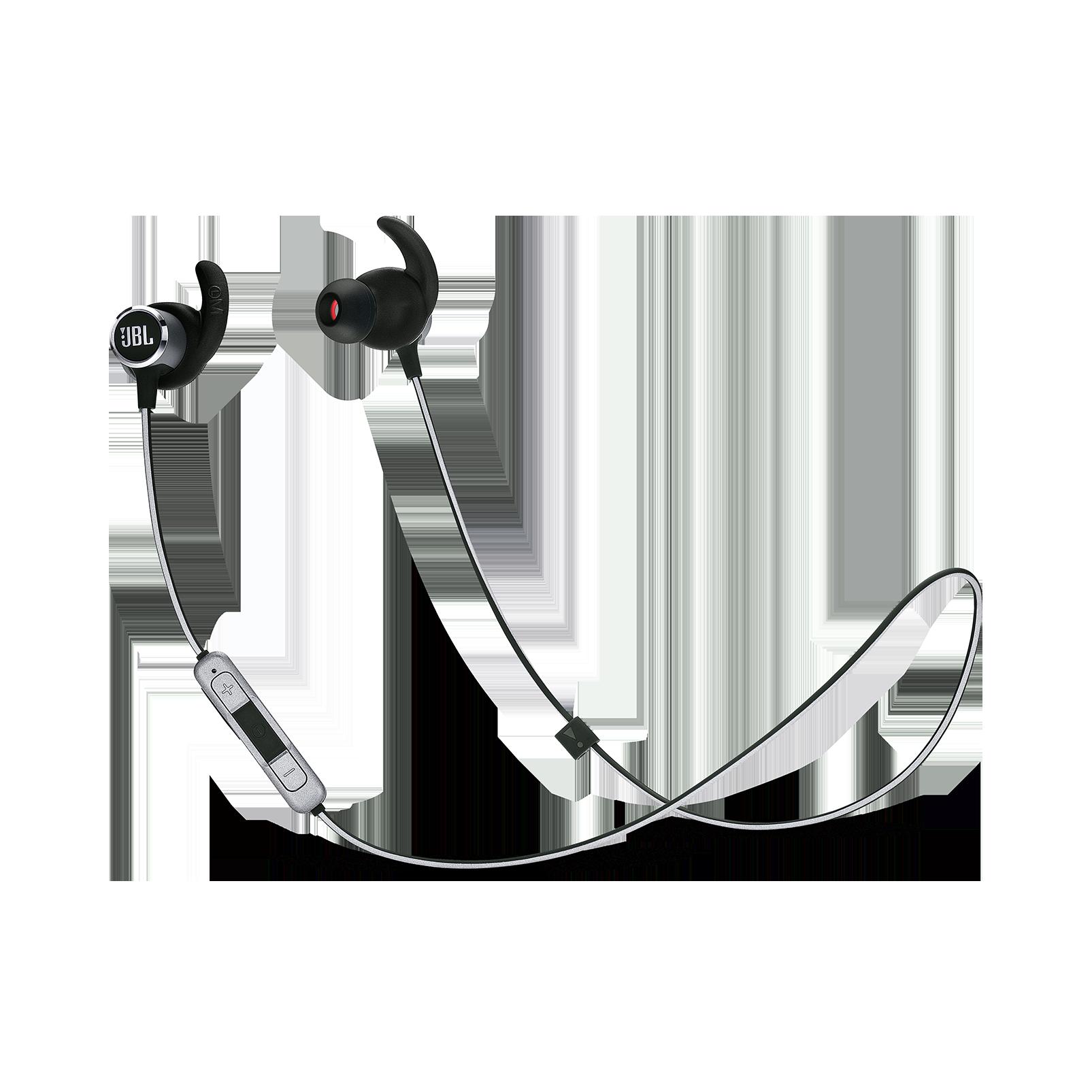 JBL REFLECT MINI 2 - Black - Lightweight Wireless Sport Headphones - Hero