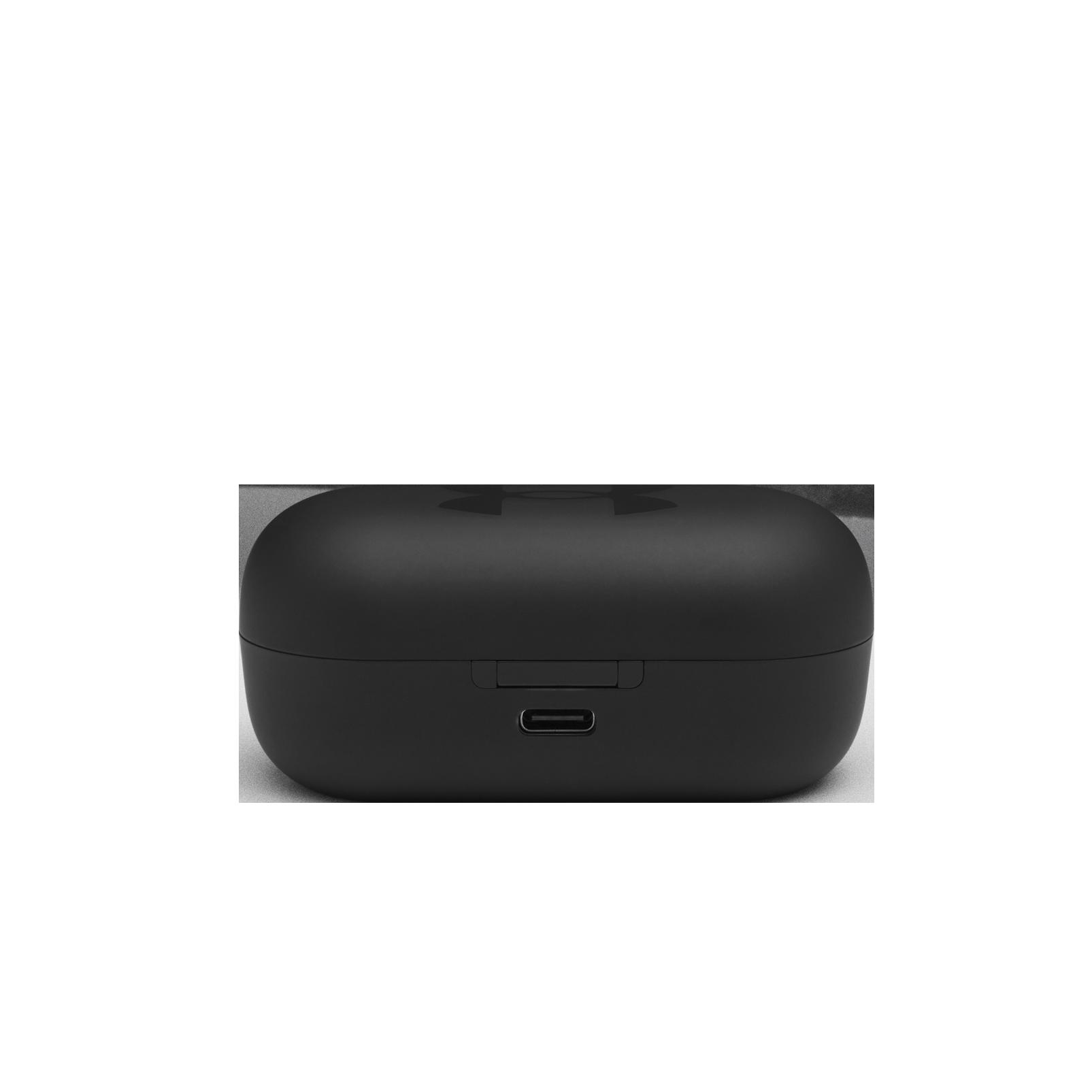 UA True Wireless Streak - Black - Ultra-compact In-Ear Sport Headphones - Back