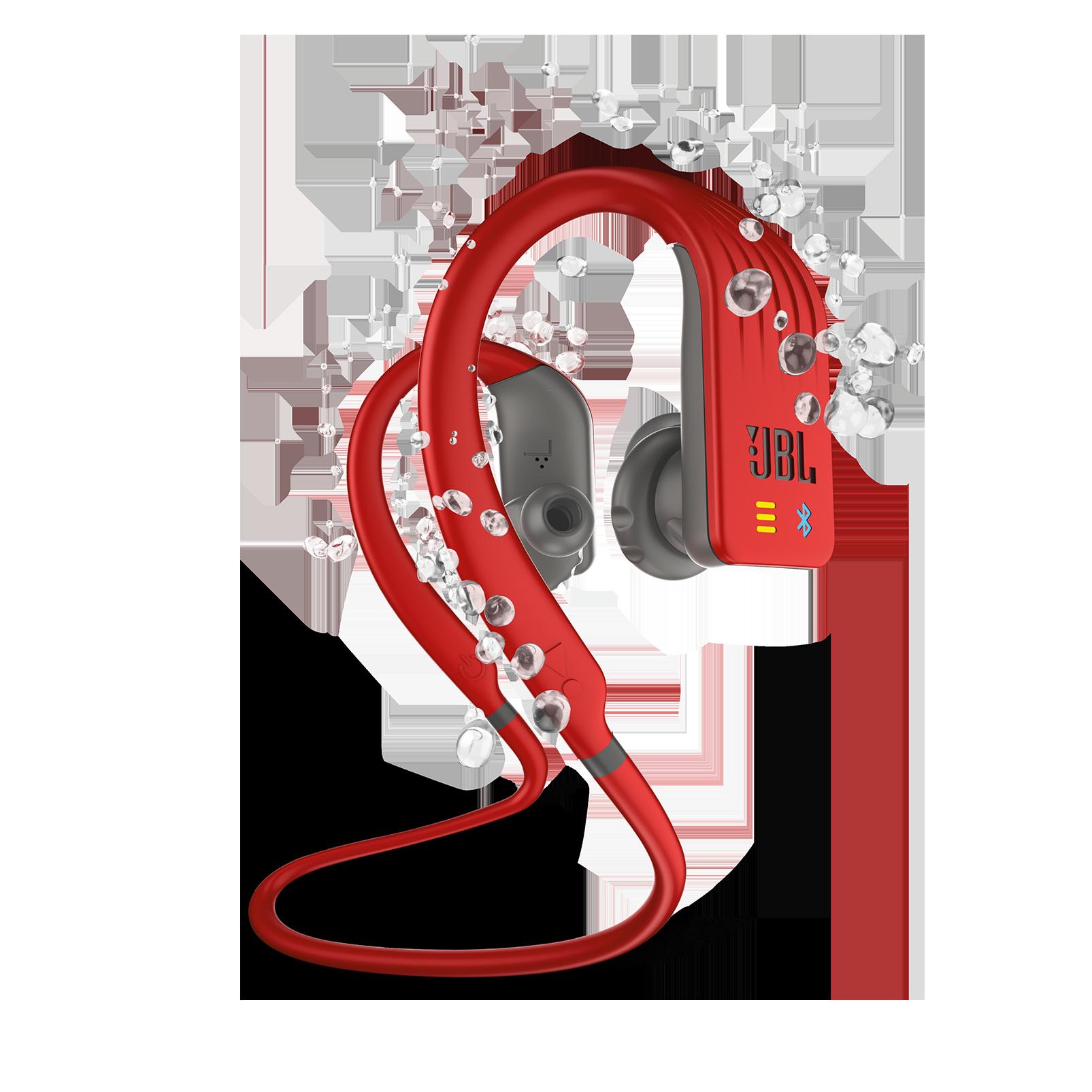 JBL Endurance DIVE - Red - Waterproof Wireless In-Ear Sport Headphones with MP3 Player - Hero
