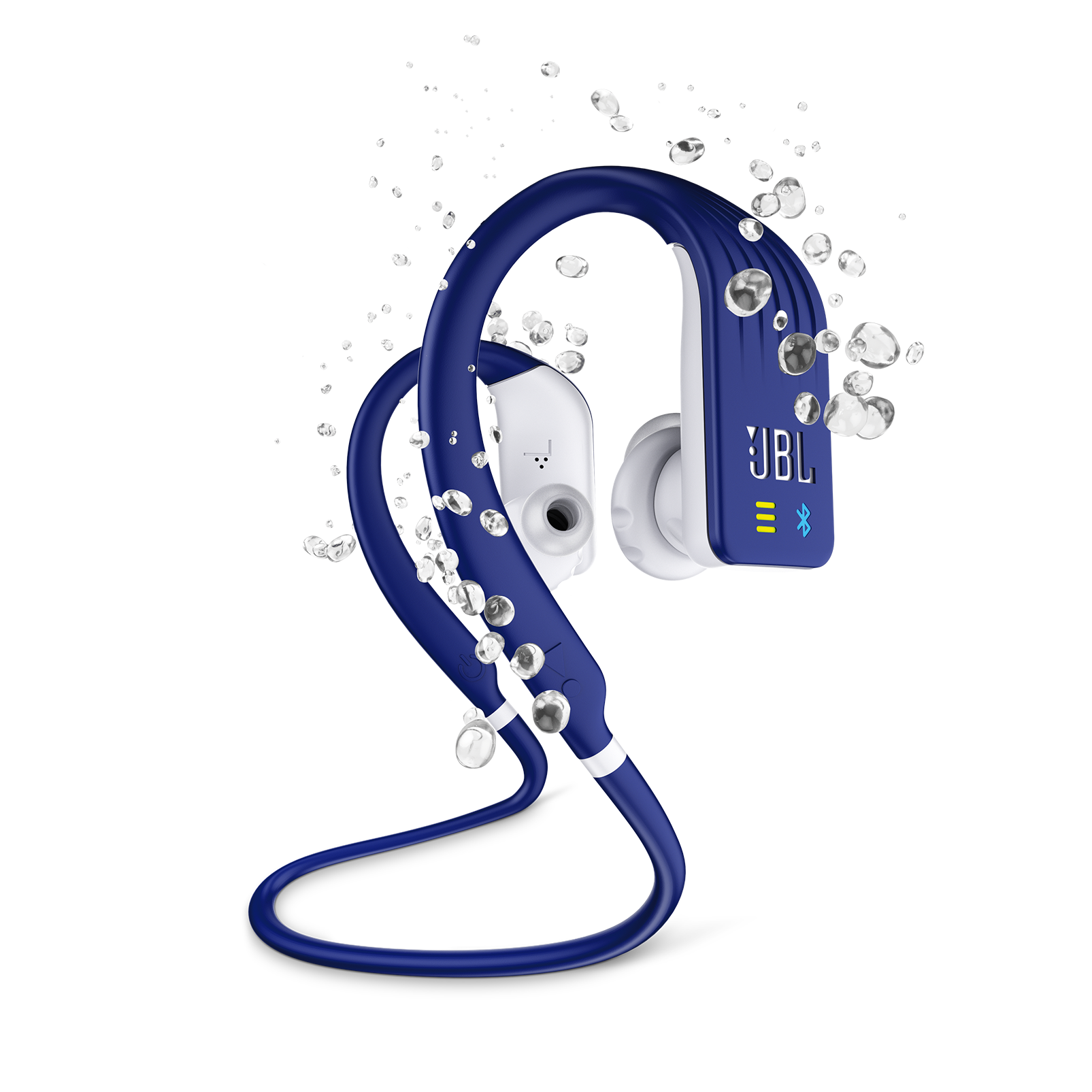 JBL Endurance DIVE - Blue - Waterproof Wireless In-Ear Sport Headphones with MP3 Player - Hero