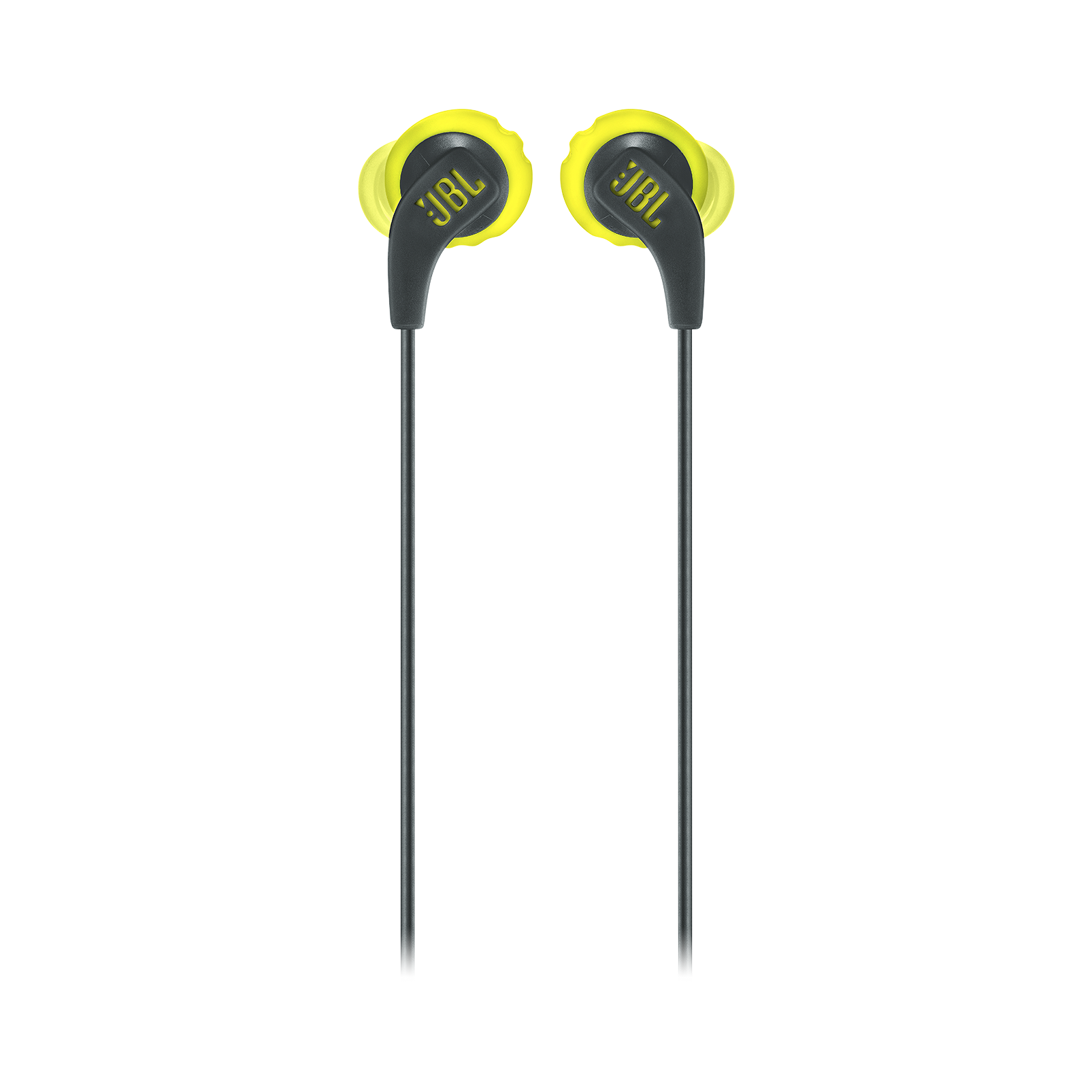 JBL Endurance RUN - Yellow - Sweatproof Wired Sport In-Ear Headphones - Front