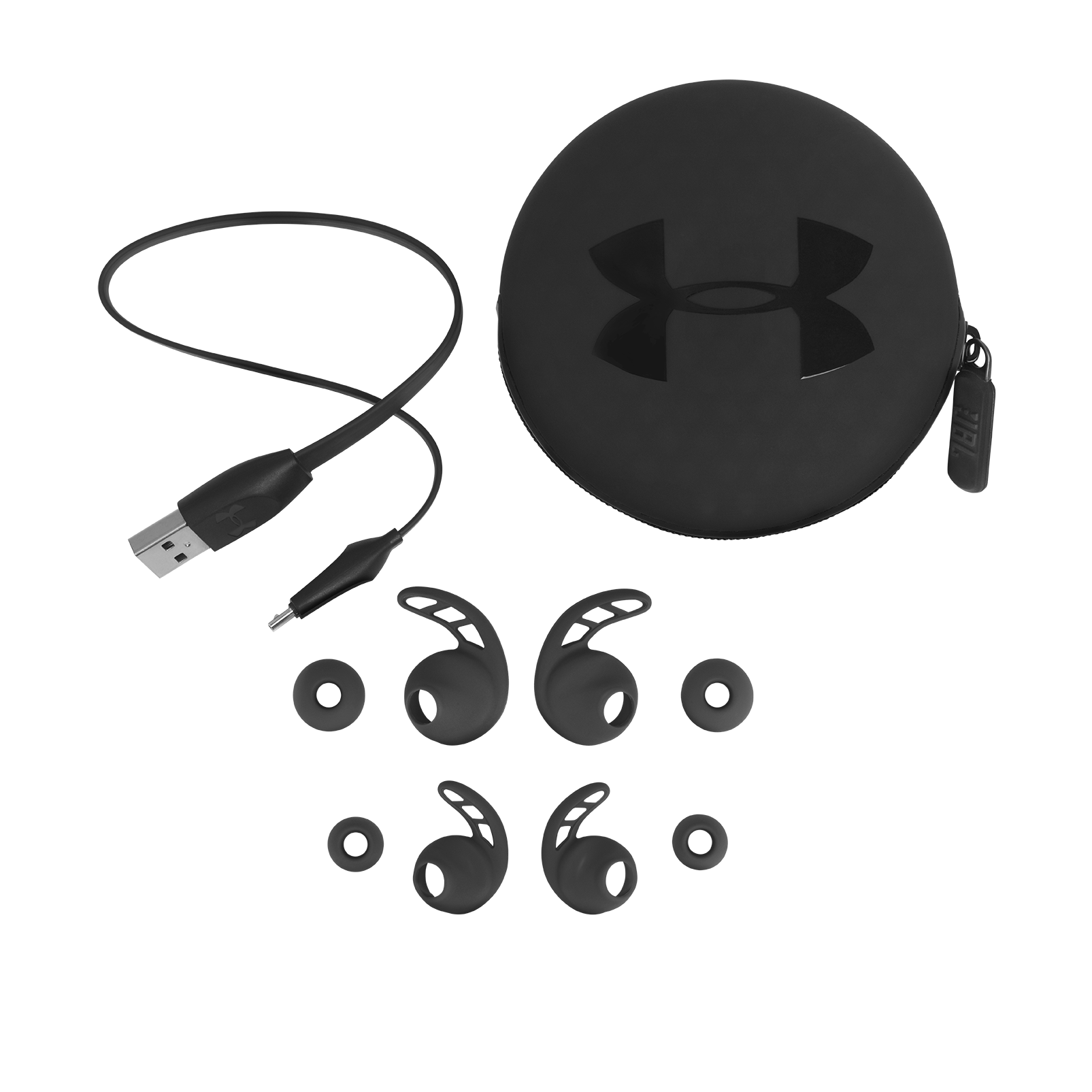 UA Sport Wireless REACT - Black - Secure-fitting wireless sport earphones with JBL technology and sound - Detailshot 4